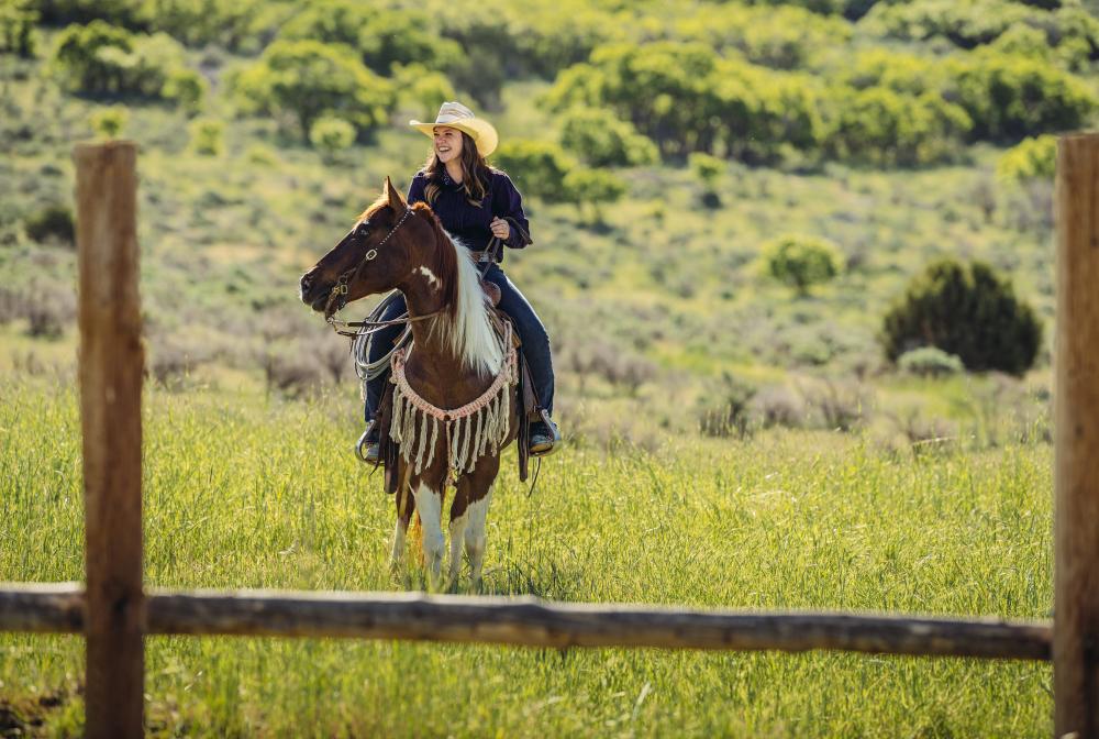 Utah Cowgirl On Horse