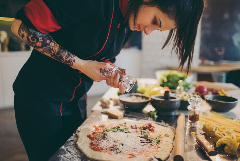 Chef Preparing Pizza