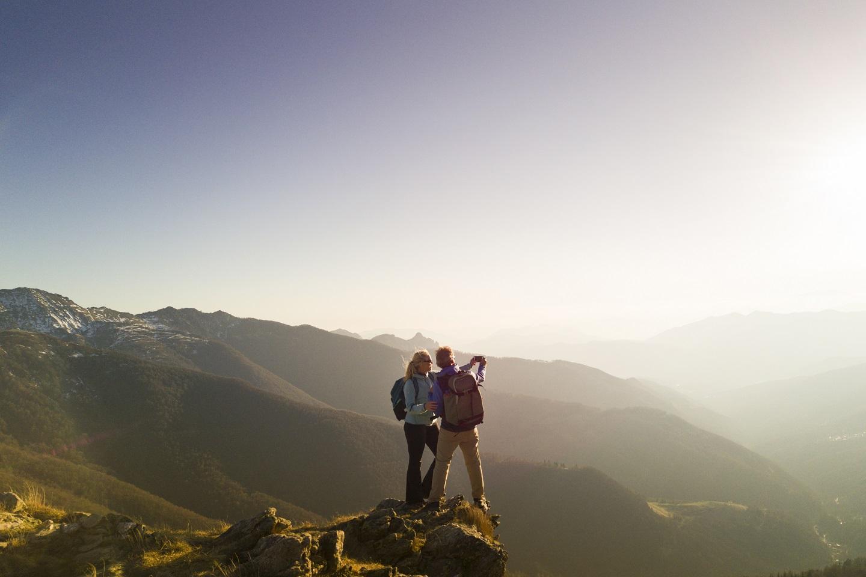 Hiking Couple Take Selfie