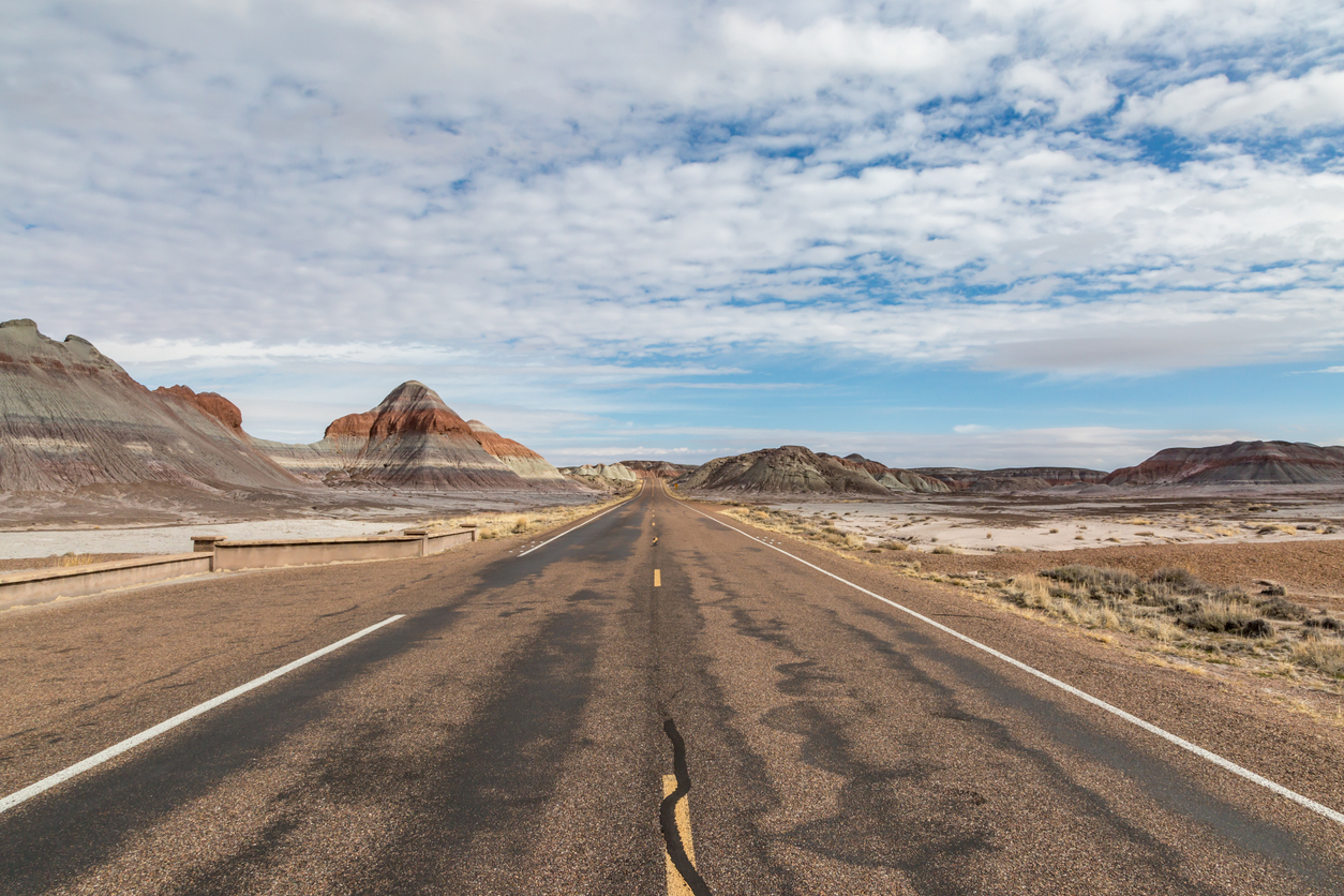 A Road In The Painted Desert, Arizona